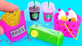 10 Diy Barbie Miniatures ~ Mini Starbucks, Mini French Fry Purse, Dress, And More