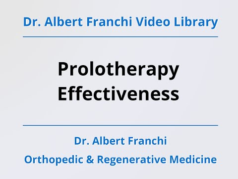 Prolotherapy Effectiveness