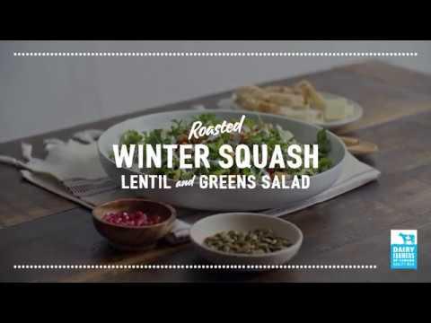 Roasted Winter Squash, Lentil and Greens Salad   2018 Milk Calendar