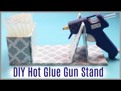 DIY Hot Glue Gun Stand // Dollar Tree Crafting Life Hack!