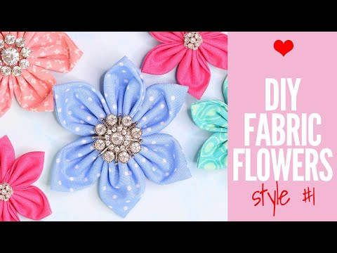 How to Make Fabric Flowers - Quick and Easy Tutorial