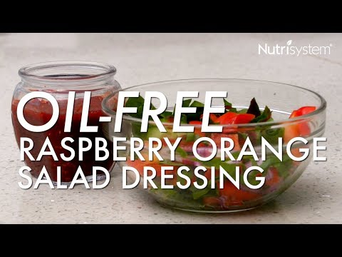 Oil Free Raspberry Orange Salad Dressing