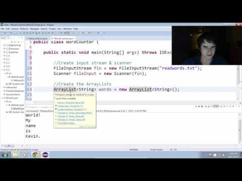 Creating a Word Counting Program in Java (6.1)