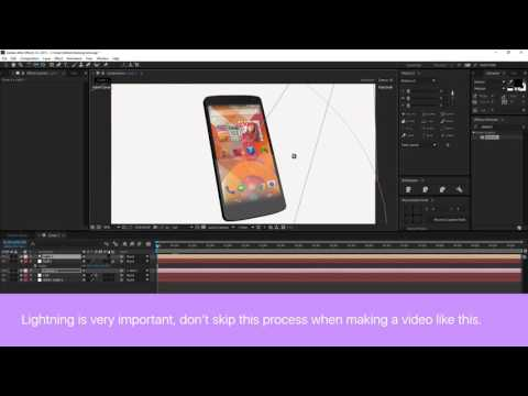 How To Make Cool 3D Phone Animation in After Effects (Element 3D)