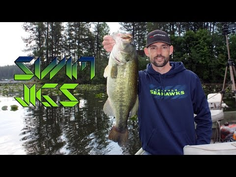 Spring Bass Fishing with Swim Jigs [HD 6lb Largemouth Bass]