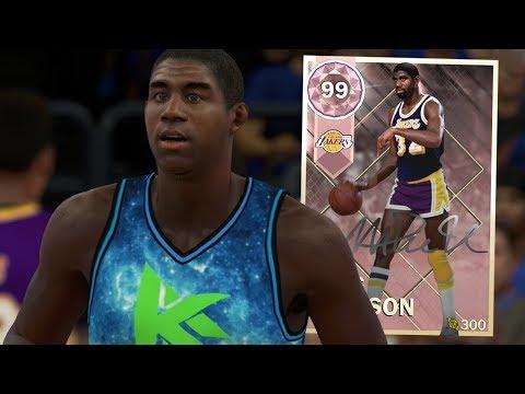 PINK DIAMOND MAGIC JOHNSON GAMEPLAY!! 3 MILLION MT CARD!! (NBA 2K18 MYTEAM)