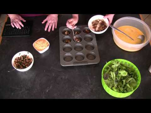 VEGISODES: Spinach, and Egg Muffins