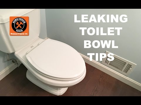 Tips for Fixing a Leaking Toilet Bowl -- by Home Repair Tutor