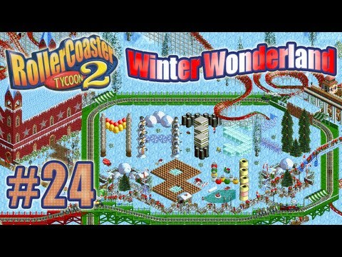 Let's Play RollerCoaster Tycoon 2 (Winter Wonderland) - Ep. 24: THE REAL SKI LIFT