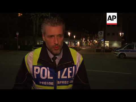 Forensic experts at scene of Muenster vehicle attack