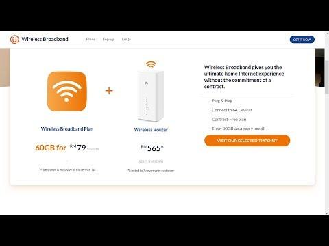 Unifi wireless broadband & Huawei 4G router B618