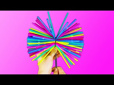 20 COLORFUL AND FUN IDEAS WITH STRAWS