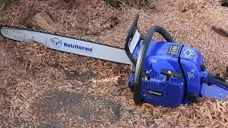 How to make a bench out of a log with a chainsaw