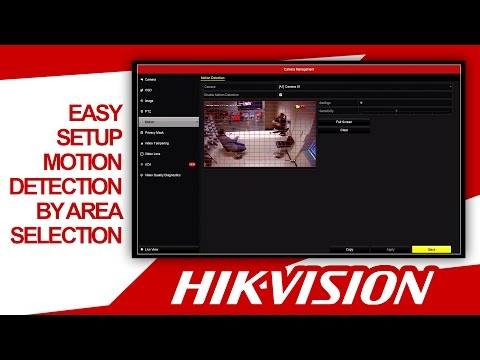 Hikvision - Motion Detection by Area Selection (Quick & Easy Setup) HDSECURE
