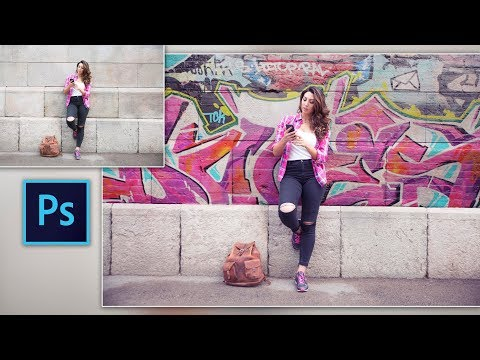 How to Make Graffiti Wall in Photoshop | Change Simple Wall Background to Graffiti Wall in Photoshop