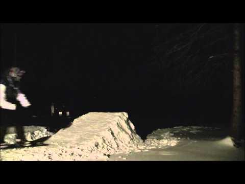 Backyard Snowboard Jump Sesh