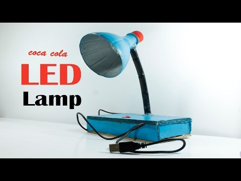 DIY | How to Table Lamp making homemade | Easy Table Lamp making by COCA COLA bottle DIY|| GEAR BOX