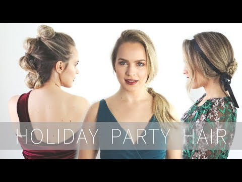Glam Holiday Party Hairstyles Tutorial!! - KayleyMelissa