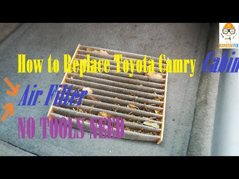 How to Replace 2007 2008 2009 2010 2011 Toyota Camry Cabin Air Filter, NO TOOLS NEED, UNDER 2 Minute