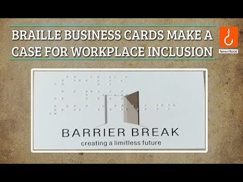 Braille business cards make a case for workplace inclusion