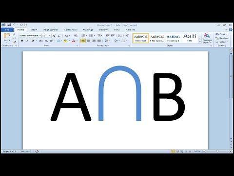 How to type intersection symbol in Word