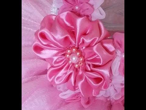 DIY how to make satin/silk flowers for tutu dress designs