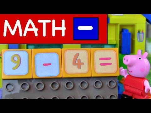 Learn Subtraction With Peppa Pig Basic MATH Lessons for Kids Subtraction For Kids Video