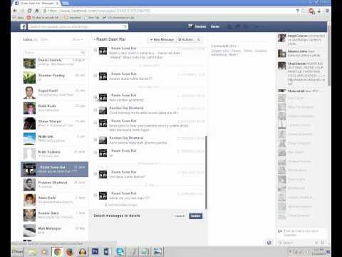 How to delete inbox message from Facebook