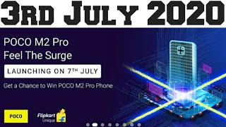 Flipkart quiz answer today 3rd July 2020 l win POCO M2 pro l Feel the surge l flipkart quiz today I