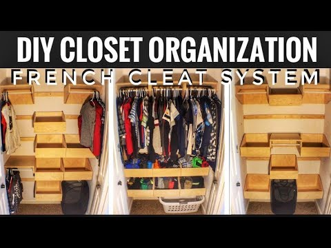 How to Make a French Cleat Closet System | Woodworking project