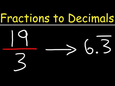 How To Convert Improper Fractions & Mixed Numbers To Decimals Using Long Division