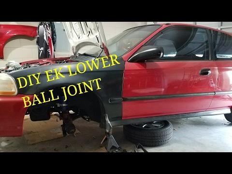 How to install lower ball joint: ek hatchback easy