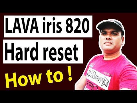 How to LAVA iris 820 hard reset by manas tech?
