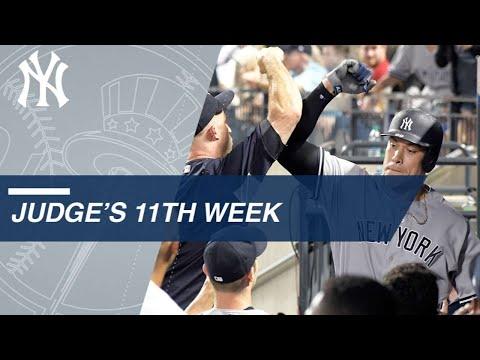 Aaron Judge's 11th week highlights
