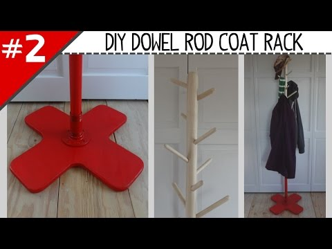 DIY Dowel Rod Coat Rack - Part 2 of 2