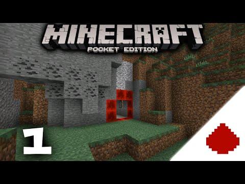MCPE Secret Base - Let's Build Redstone Episode 1 - Minecraft PE build