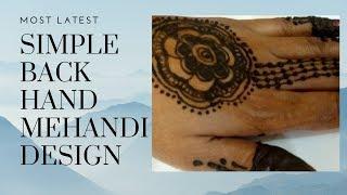Most latest simple back hand Arabic Mehandi design