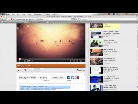 how to embed YouTube video to your wordpress blog Tomorrow's Online Marketing