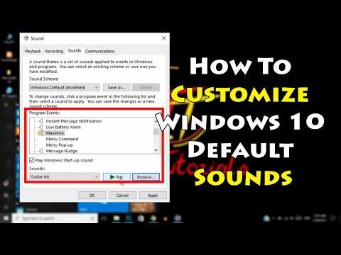 How To Customize Windows 10 Default sounds | Tech Tutorials