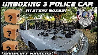 Unboxing 3 Police Car Mystery Boxes What