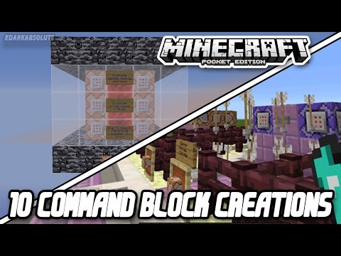 10 AWESOME COMMAND BLOCK CREATIONS IN MINECRAFT PE!!