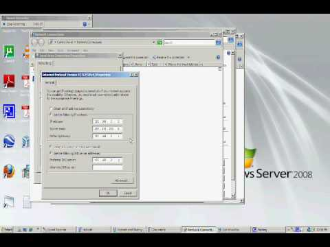 Setting a static IP address for your pc