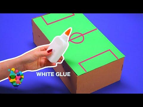 DIY - How To Make A Table Soccer (Football) At Home Using Shoebox | A+ hacks