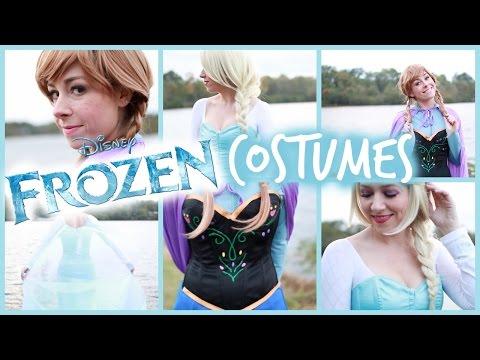 My Halloween Costume! DIY Frozen Elsa and Anna | #OOTD