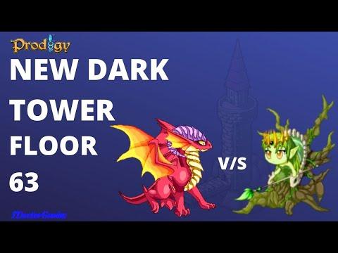 New Dark Tower Floor 63 Battle : Vinequeen  Battle VS Dragic VS  Me : Prodigy Math Game