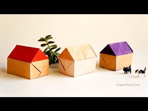 Make an Easy Origami House :: Casa en Origami