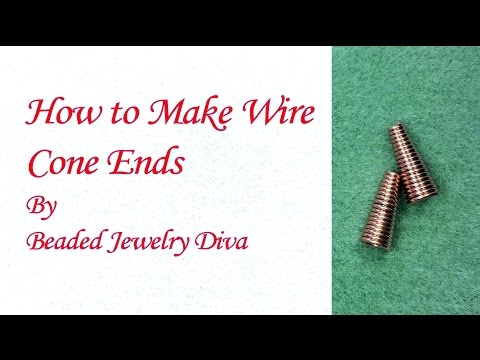 How to Make Cone Ends - Wire Wrap Tutorial