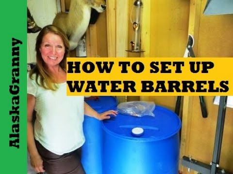 Water Storage Barrels Sanitize and Set Up