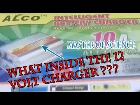 What inside the 12 volt 10 ampere battery charger???