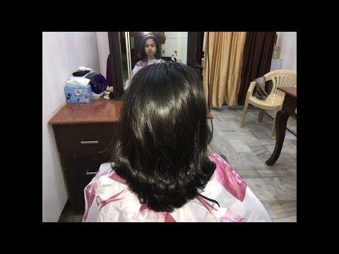 SLIDING HAIR CUT OR 45 DEGREE TUTORIAL IN HINDI
